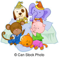 Party clipart pajamas Path  Clip with Clipping