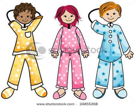 Party clipart pajamas Clipart Free Slumber Party Pajamas