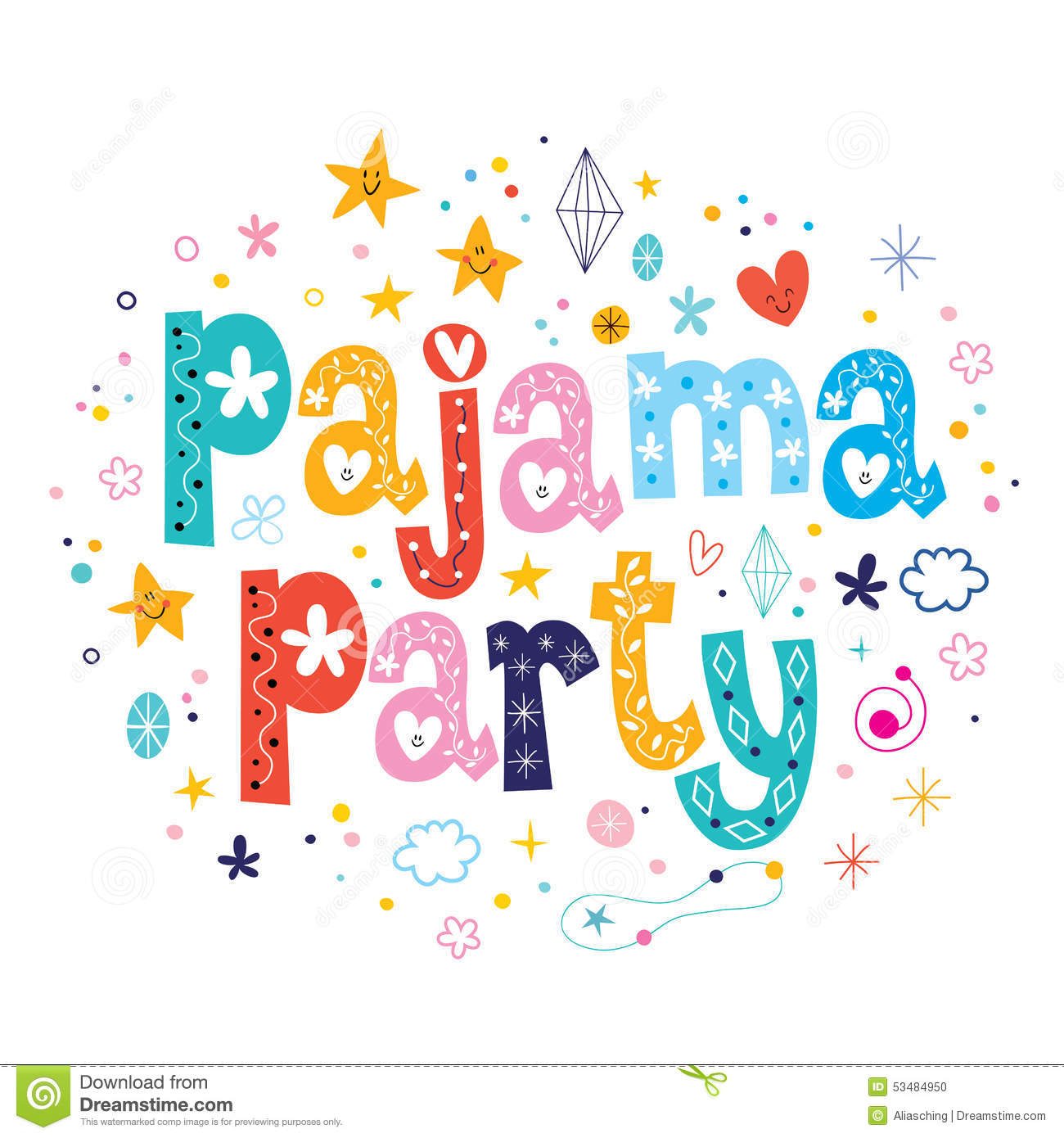 Party clipart pajamas Pajama clipart Clipart Collection Sleepover