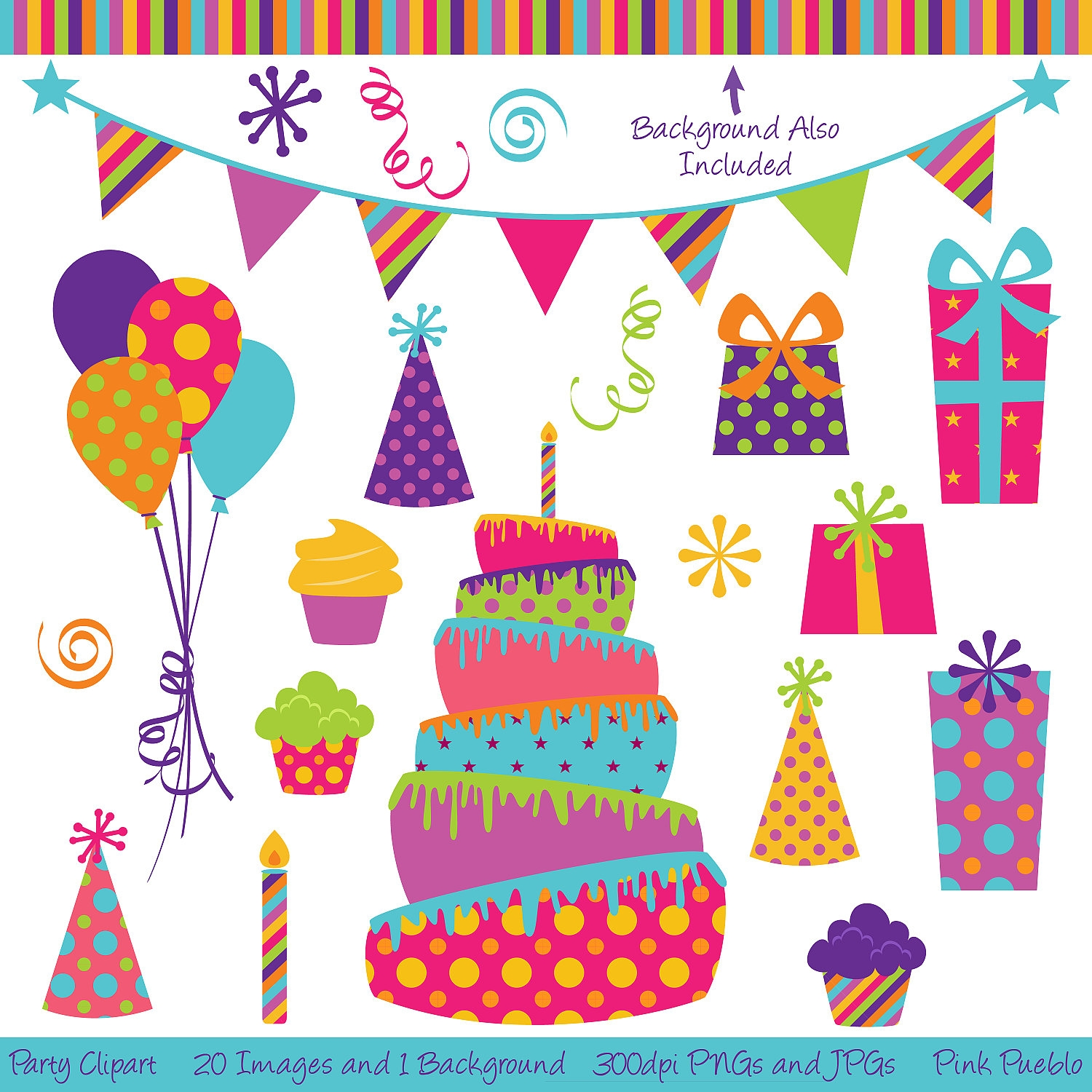 Decoration clipart party streamer Decorations  on Decor Party