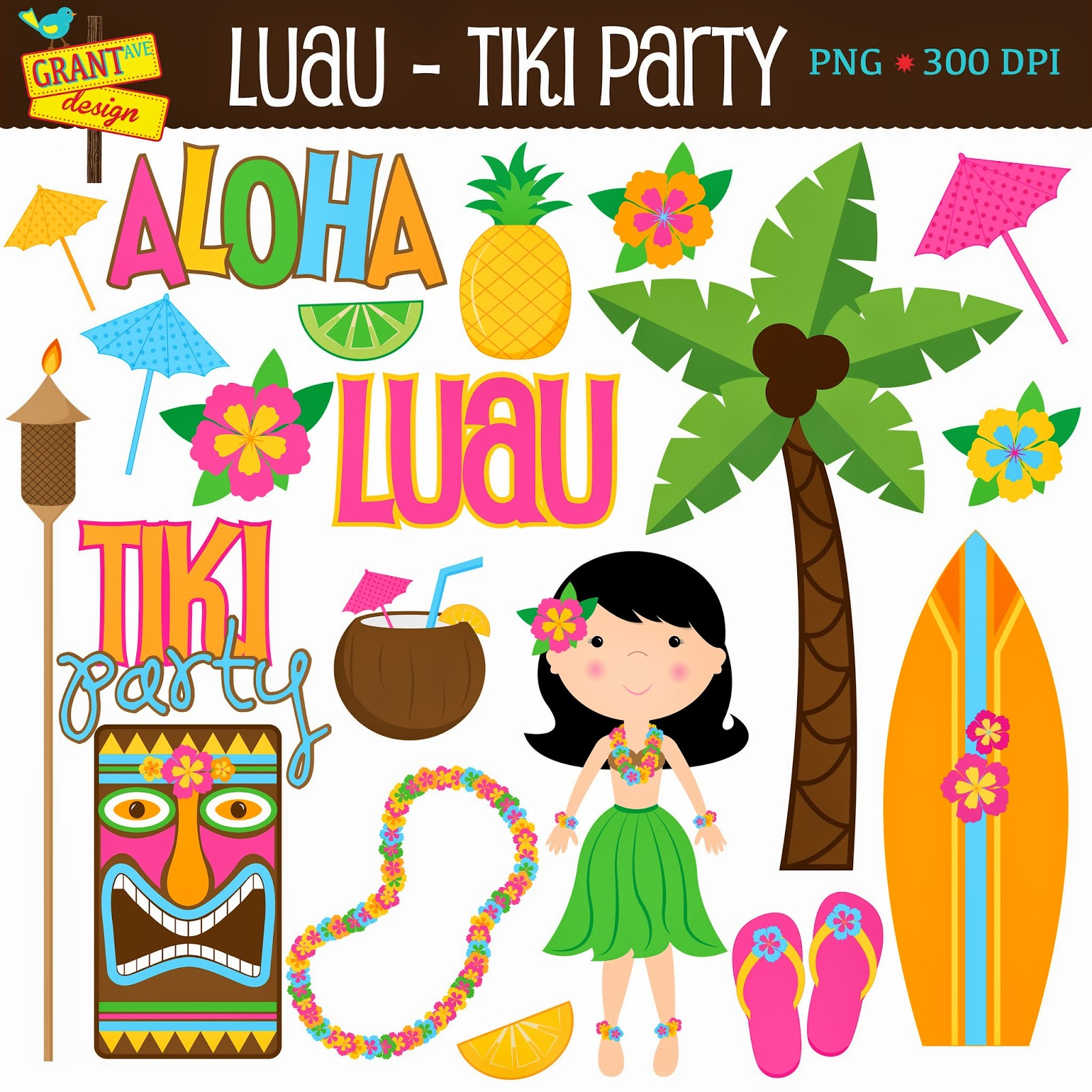 Party clipart party game Avenue The Clip Luau Game!