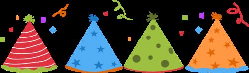 Celebration clipart surprise party Image Clip Images Hats Confetti
