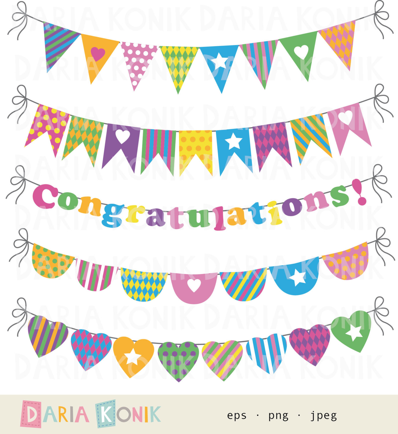 Bunting clipart celebration banner Clipart  party Bunting Art