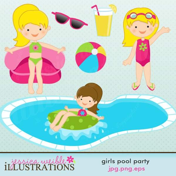 Party clipart pool Best Party Girls Clipart Pool*