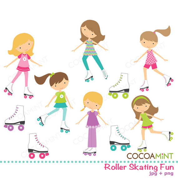 Party clipart roller skate Art Download Free Art Party
