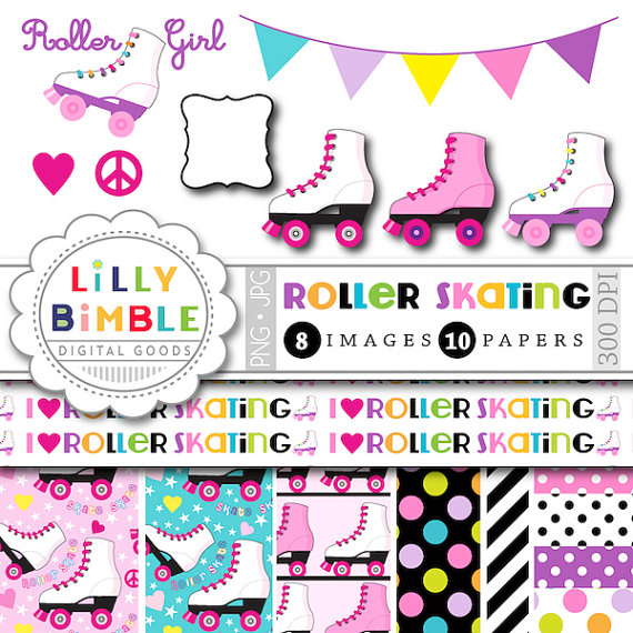Party clipart roller skate Parties birthday off invites for