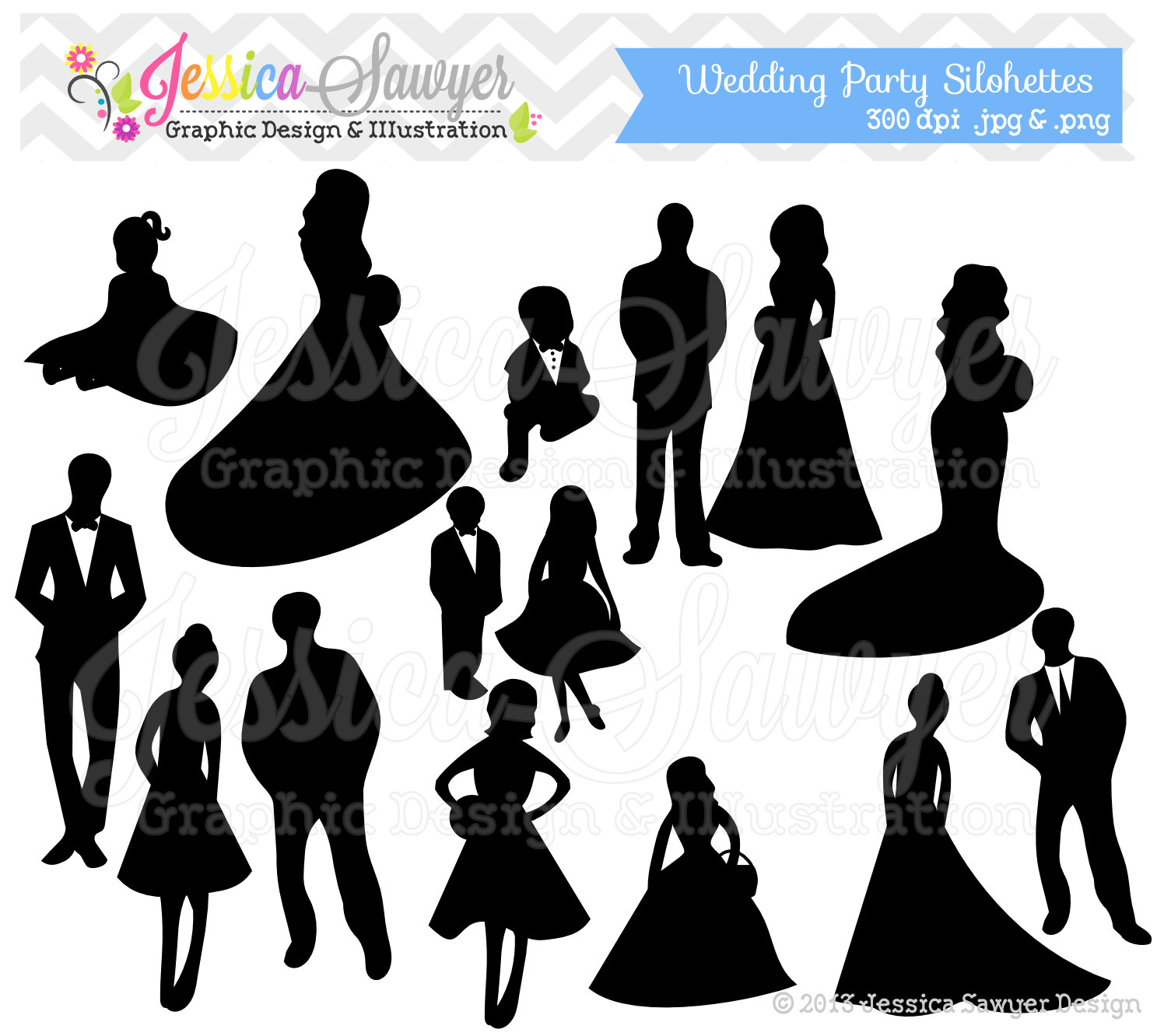Party clipart silhouette File clipart  party INSTANT