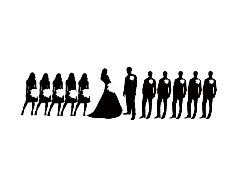 Party clipart silhouette On wedding images best groomsmen