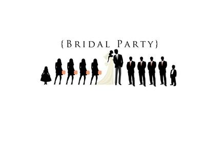 Party clipart silhouette Weddings collection Bridesmaid YES! Party