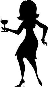 Party clipart silhouette Party Art Images Girl Girl