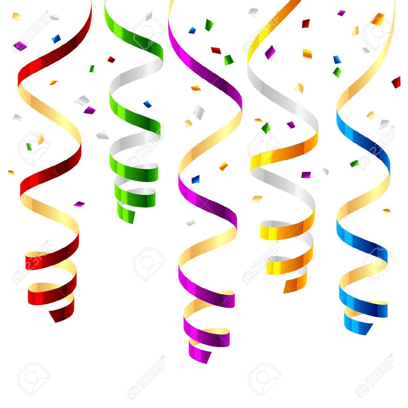 Carneval clipart confetti Party streamer clipart streamer clipart