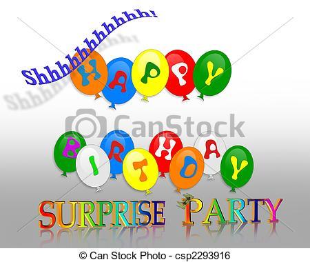 Celebration clipart surprise party Clip – Party Art Clipart