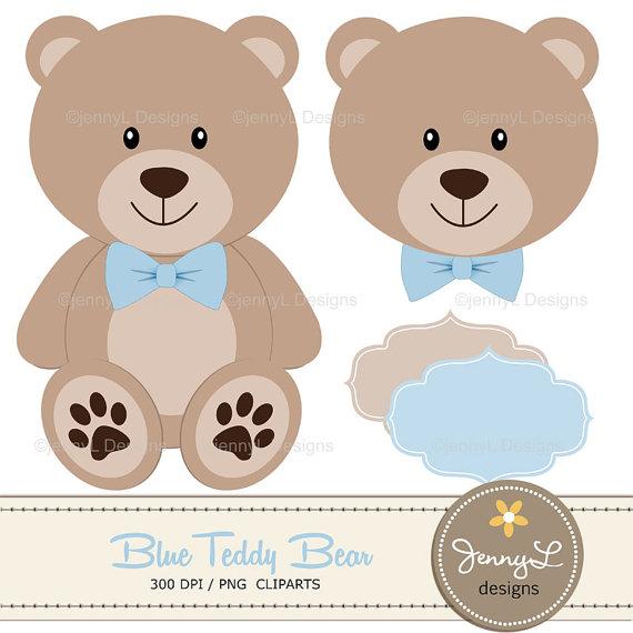 Light Blue clipart teddy bear Shower Brown Baptism papers Bear