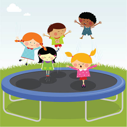 Circus clipart trampoline On on clipart Image trampoline