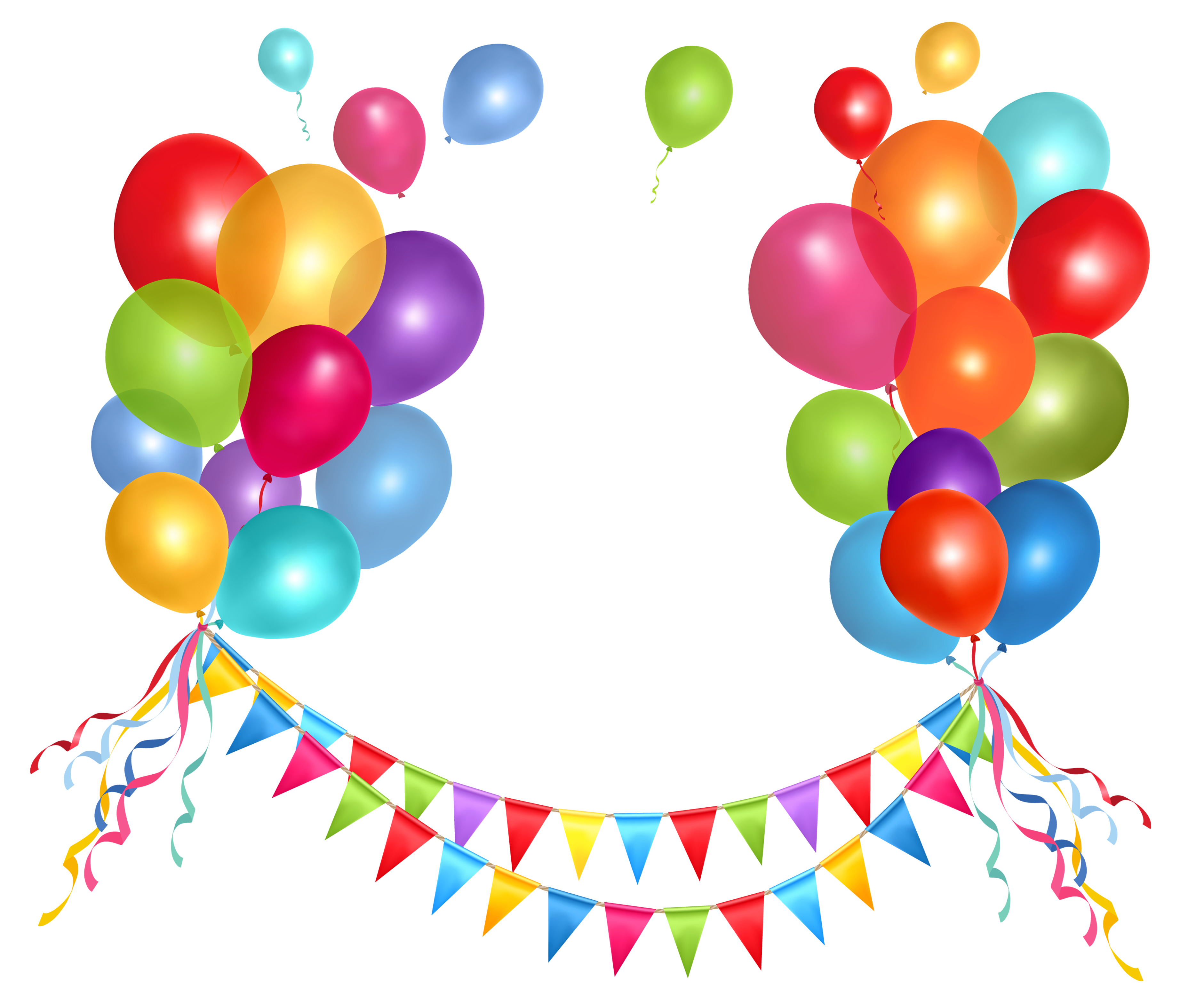 Decoration clipart streamer Picture Balloons Clipart Party and