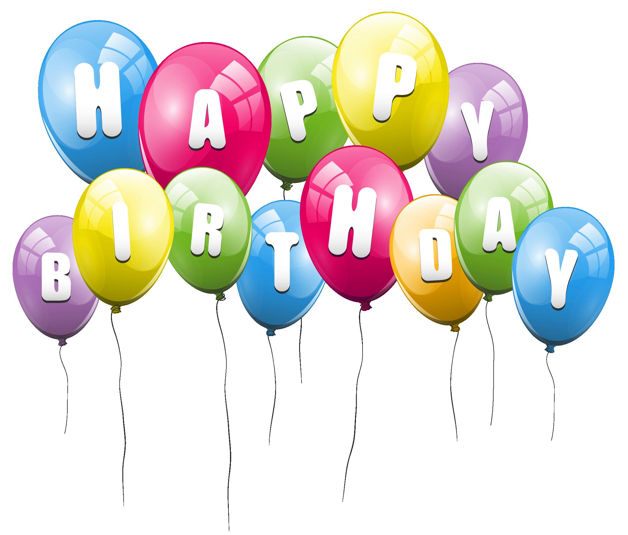 Balloon clipart happy birthday PNG Birthday Happy  Clipart