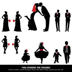 Party clipart wedding party Wedding Groomsman silhouettes in by