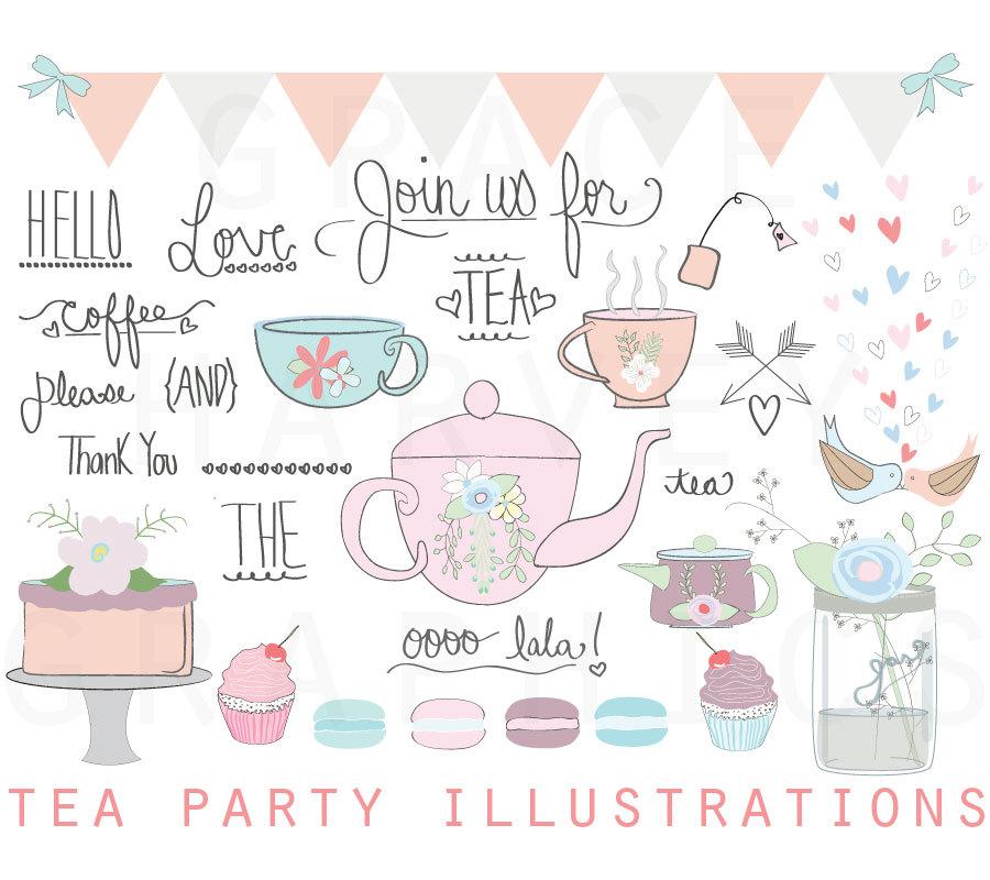 Party clipart wedding party A Art Shower Tea file