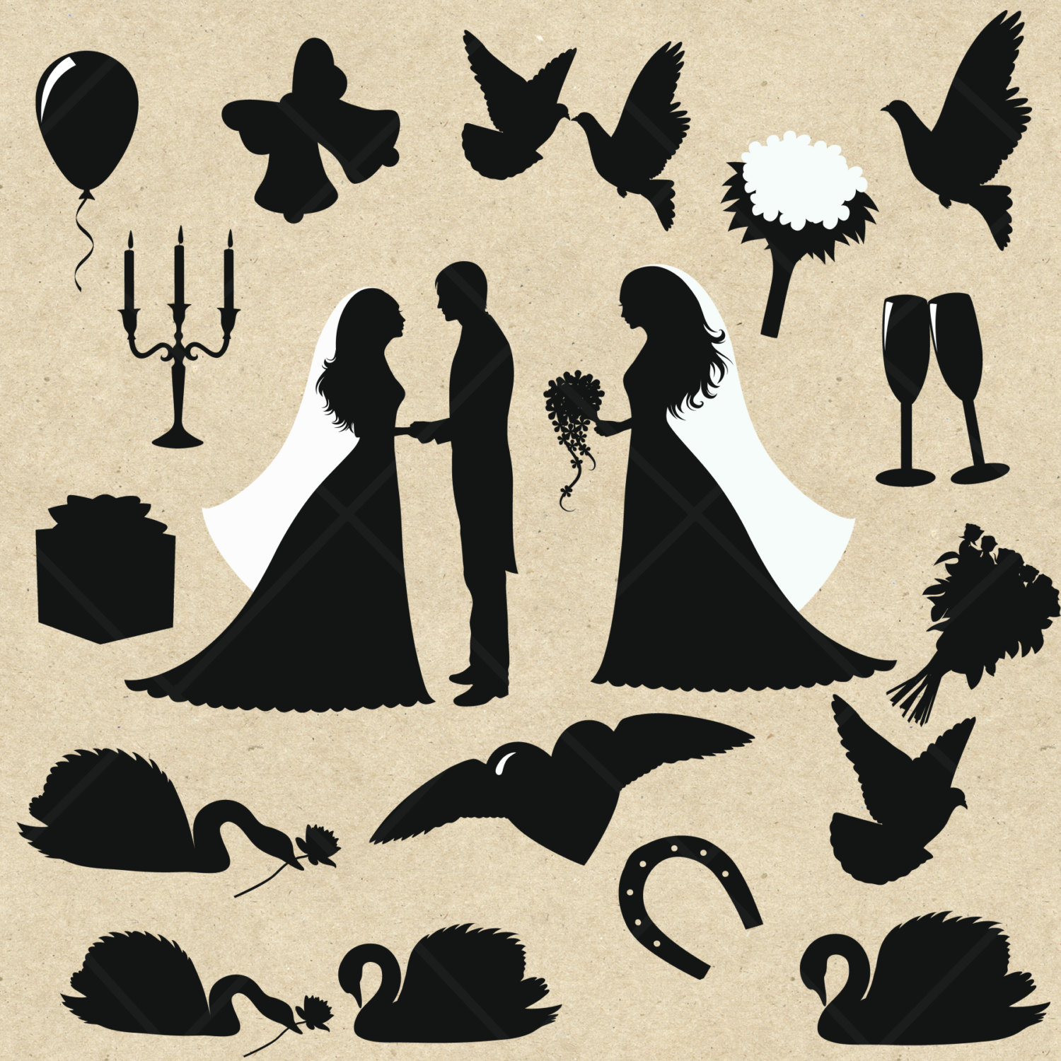 Party clipart wedding party Clipart Art Party Wedding 32