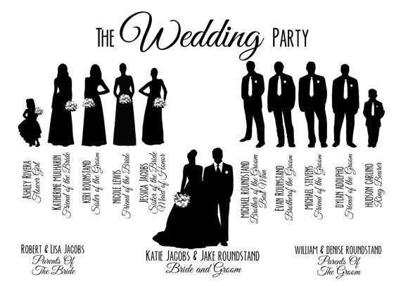 Party clipart wedding party Wedding Party Printable Party Bridal