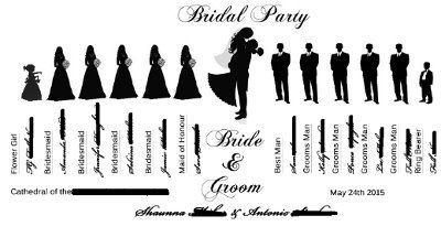 Party clipart wedding party Party Art Silhouette Art Clip