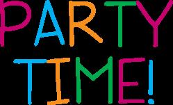 Party clipart word Party clip art Celebrate Let's