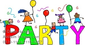 Party clipart word Of Image A Group Happy