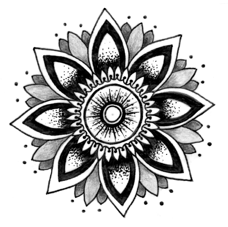Passion Flower clipart black and white Mandala Pinterest inspiration mandala Passion