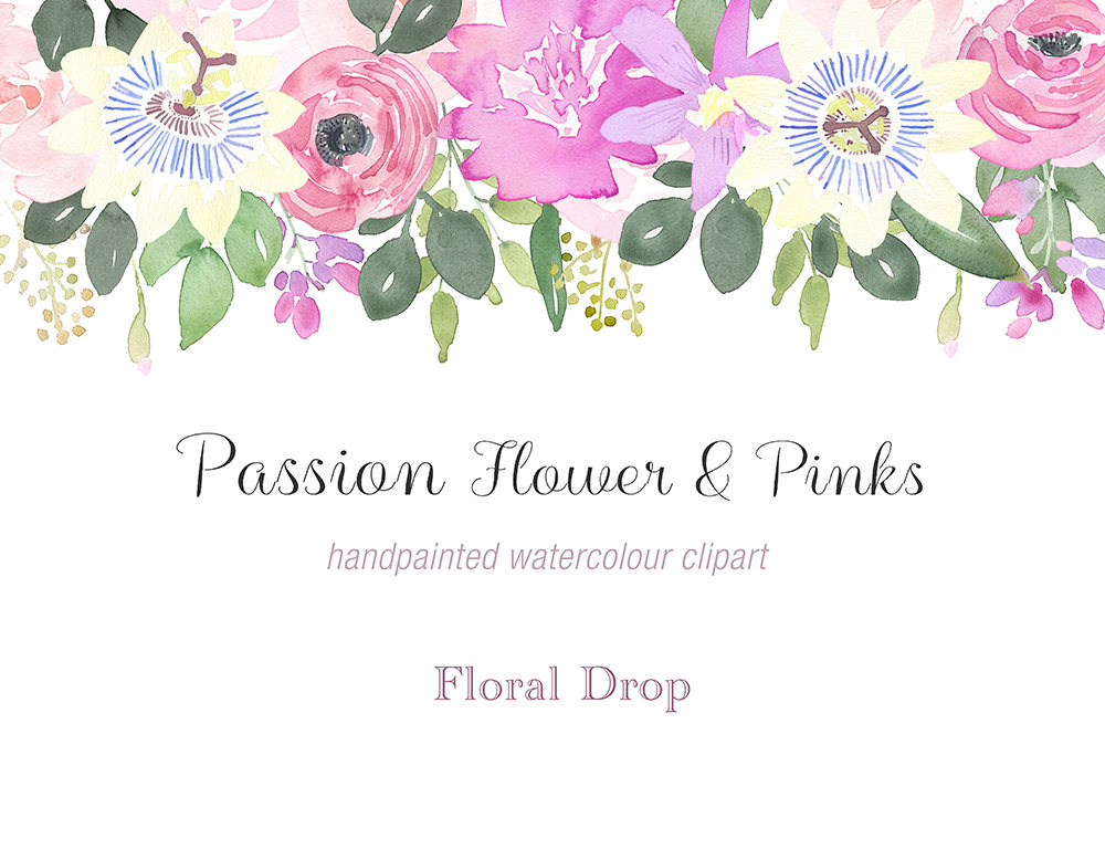 Passion Flower clipart red Complete Passion a Painted Pinks
