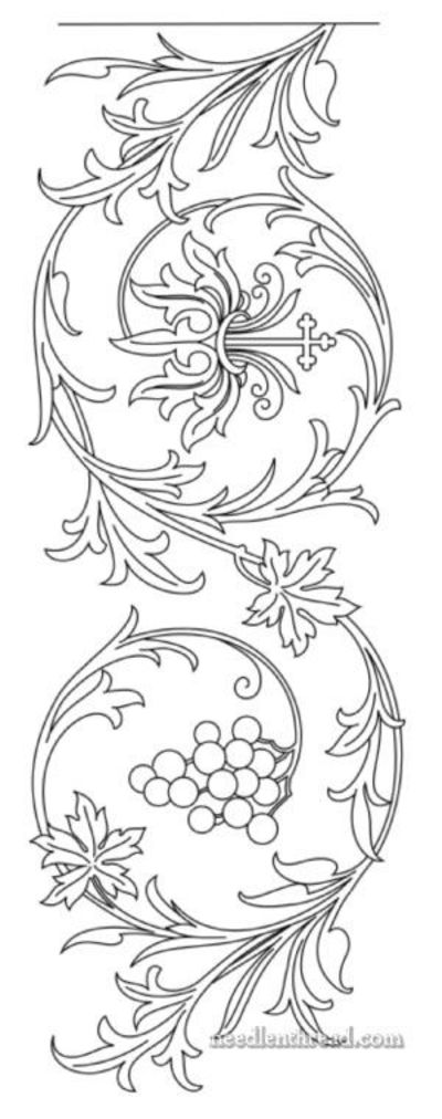 Passion Flower clipart trace Chains daisy Daisy Pattern: Grapes