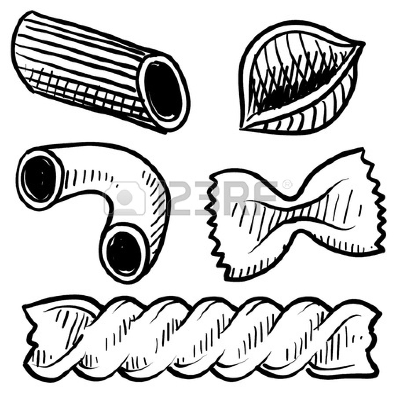 Macaroni clipart black and white Clipart Images Pasta pasta%20clipart%20black%20and%20white White