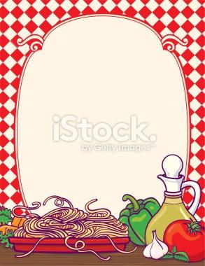 Spaghetti clipart border Stock Free  Dinner Italian