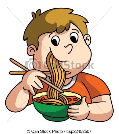 Pasta clipart boy eating  Eating Clipart Boy Eating