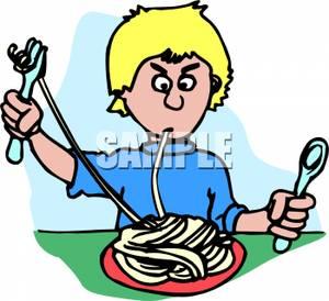 Pasta clipart boy eating Boy Boy Spaghetti Clipart Eating