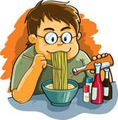 Pasta clipart boy eating Noodles Man Noodles Noodles Eating