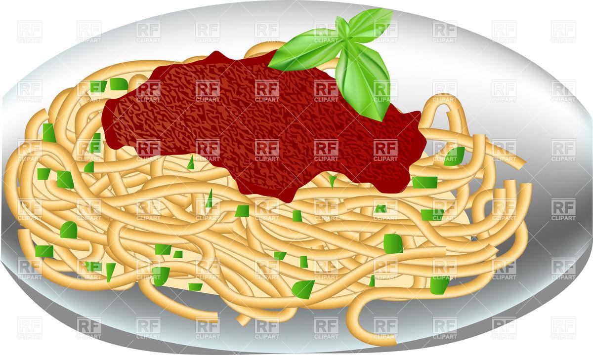 Noodle clipart plate spaghetti Plate with tomato food spaghetti