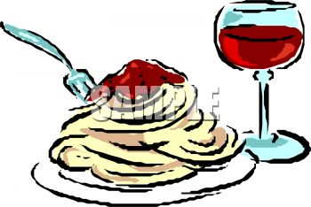 Wine clipart italian dinner Free collection pasta spaghetti collection