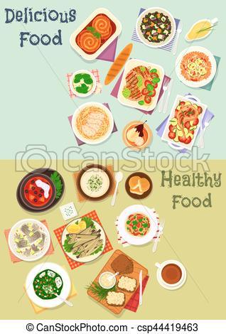 Pasta clipart delicious food Clip meat csp44419463 fish dinner