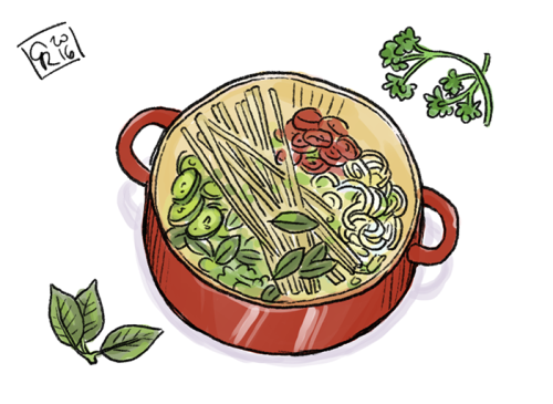 Pasta clipart delicious food A and washing one pot