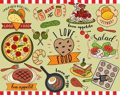 Pasta clipart food item Clip Clipart menu food Art
