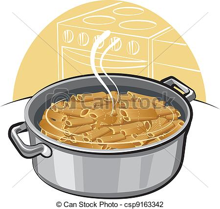 Pasta clipart hot lunch The in pot Illustration Vector