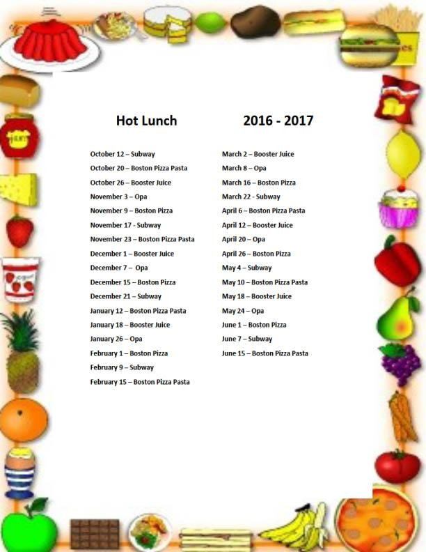 Pasta clipart hot lunch Calendar Father Instructions Lunch Lunch