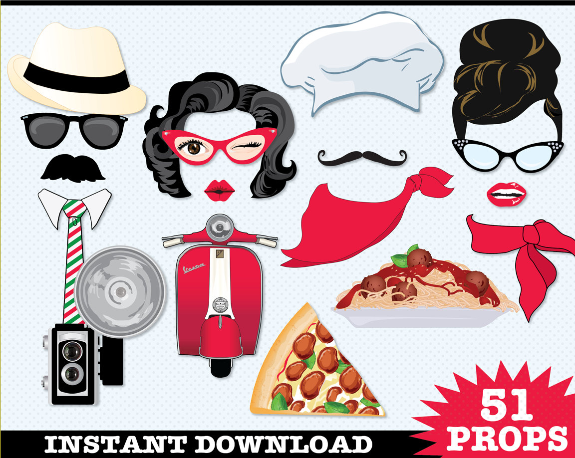 Pasta clipart italian chef Pizza Chef Props Booth Delivery