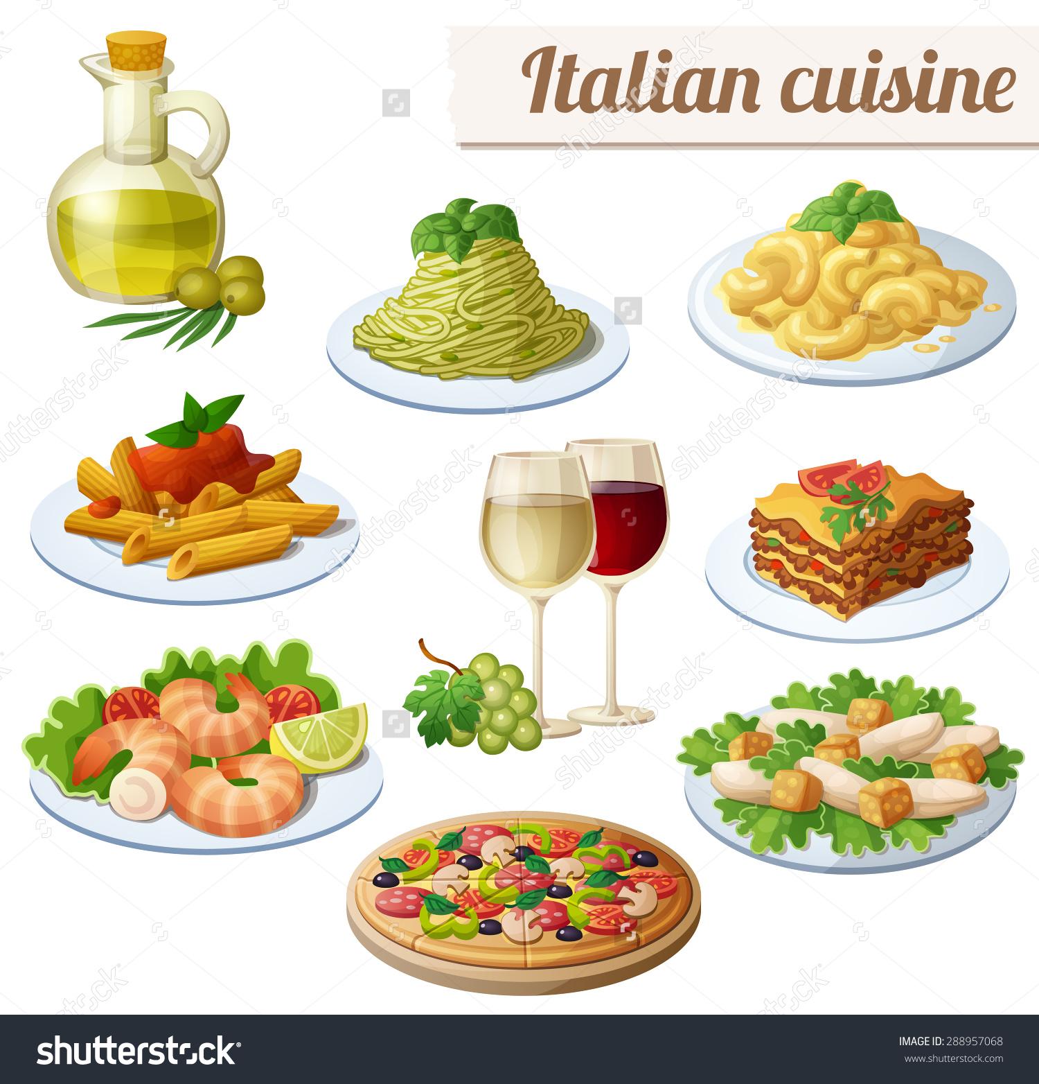 Pasta clipart italy food  italian italian s shaped