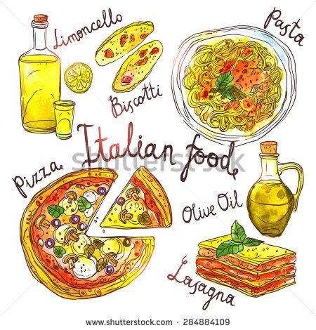 Pasta clipart italy food About Vector Italy Pizza Pinterest