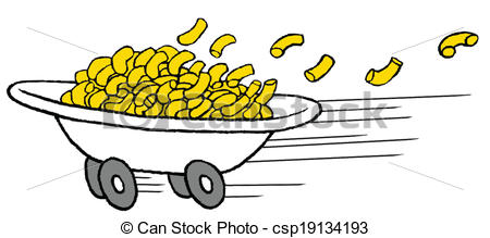Macaroni clipart russian food And on Vector pasta snak
