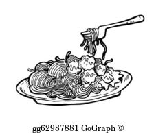 Pasta clipart spaghetti and meatball Drawing Cartoon · Clipart gg64070185