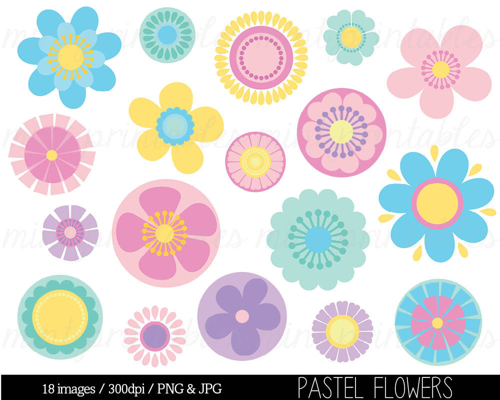 Pink Flower clipart pastel flower Clipart Like Flowers Flowers this