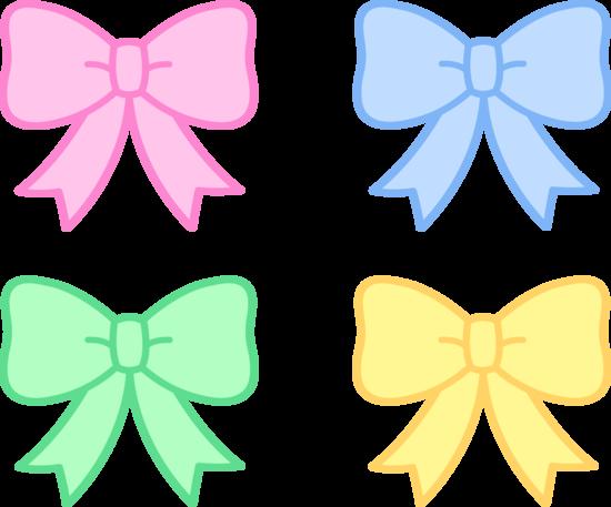 Pink Hair clipart girly bow Clipart Pastel Holiday Bows Bows