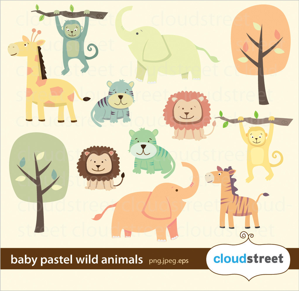 Baby Animal clipart pastel OFF for clipart baby art